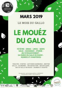 Mars 2019 : le mouéz du galo … animation à la médiathèque de Laurenan le 13 mars et le 31 mars