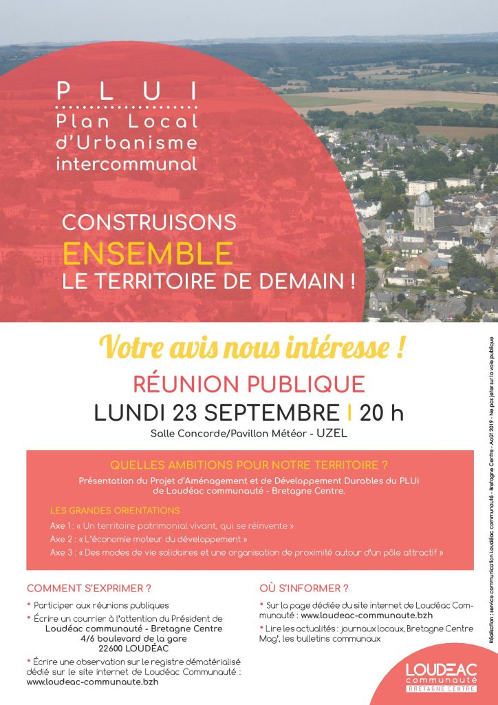PLUi : construisons ensemble le territoire de demain !