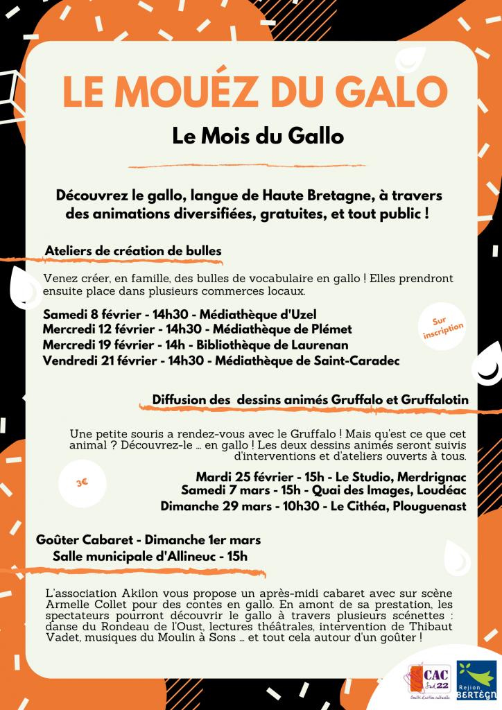 Mois du Gallo : animation à la médiathèque le 19 février 2020