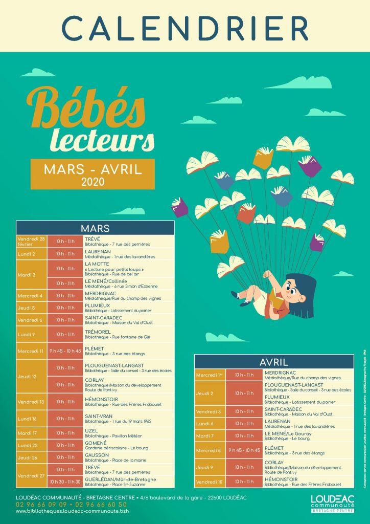 Bébés lecteurs : programme de mars et avril 2020