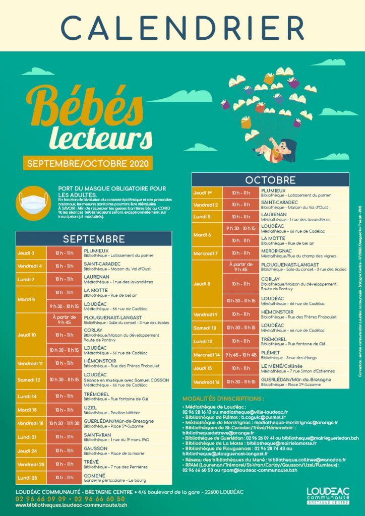 Bébés lecteur : programme de septembre et octobre 2020