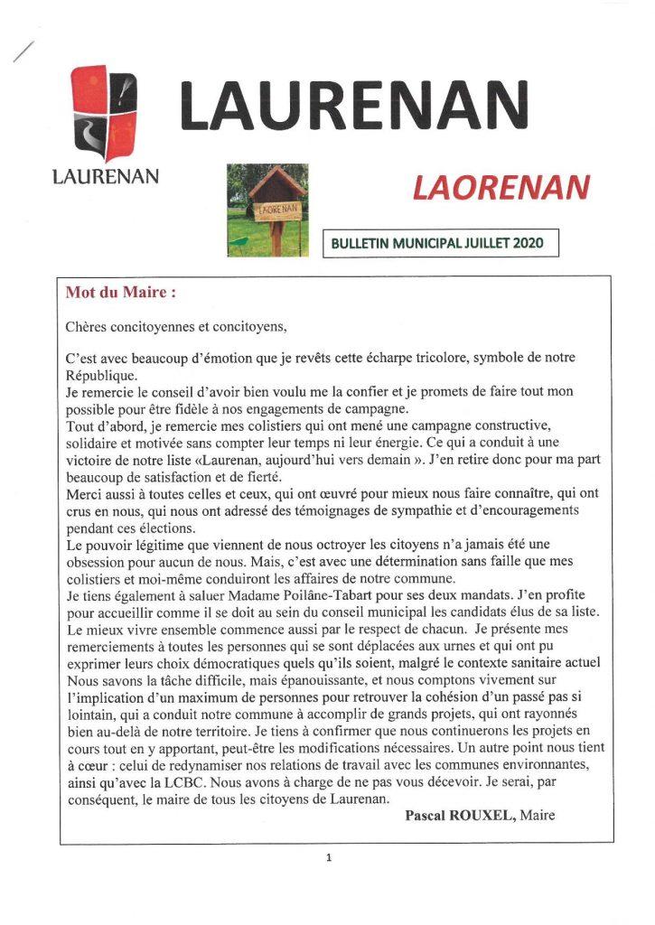 Bulletin communal : Juillet 2020