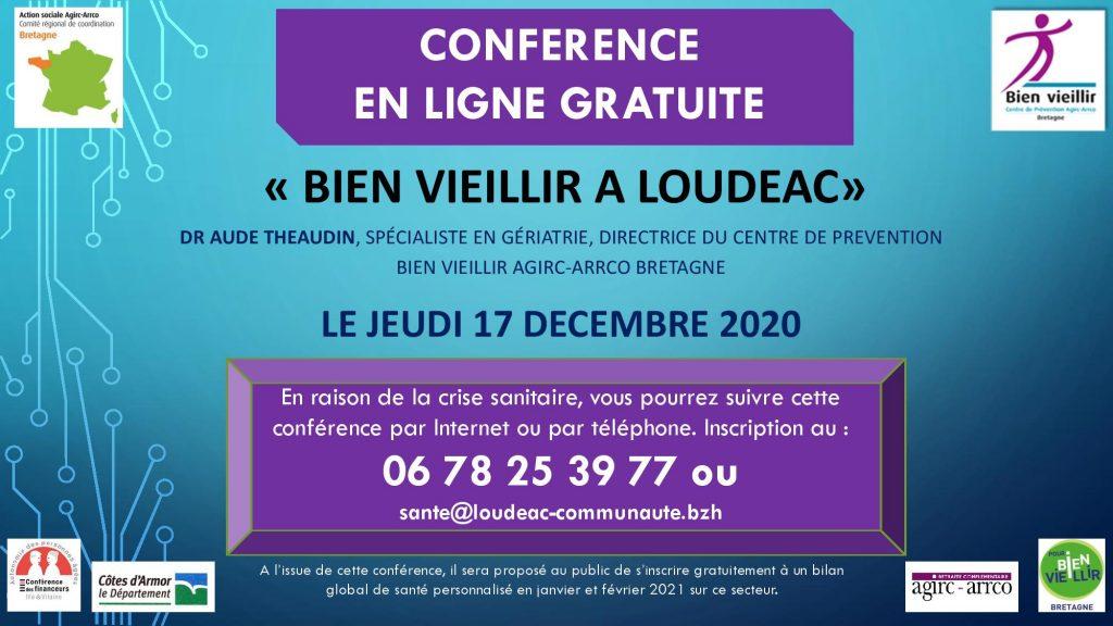 Conférence «Vieillir en santé» le 17 décembre 2020