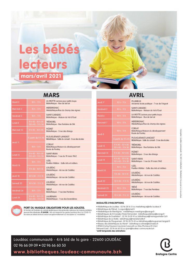 Bébés lecteurs : mars/avril 2021