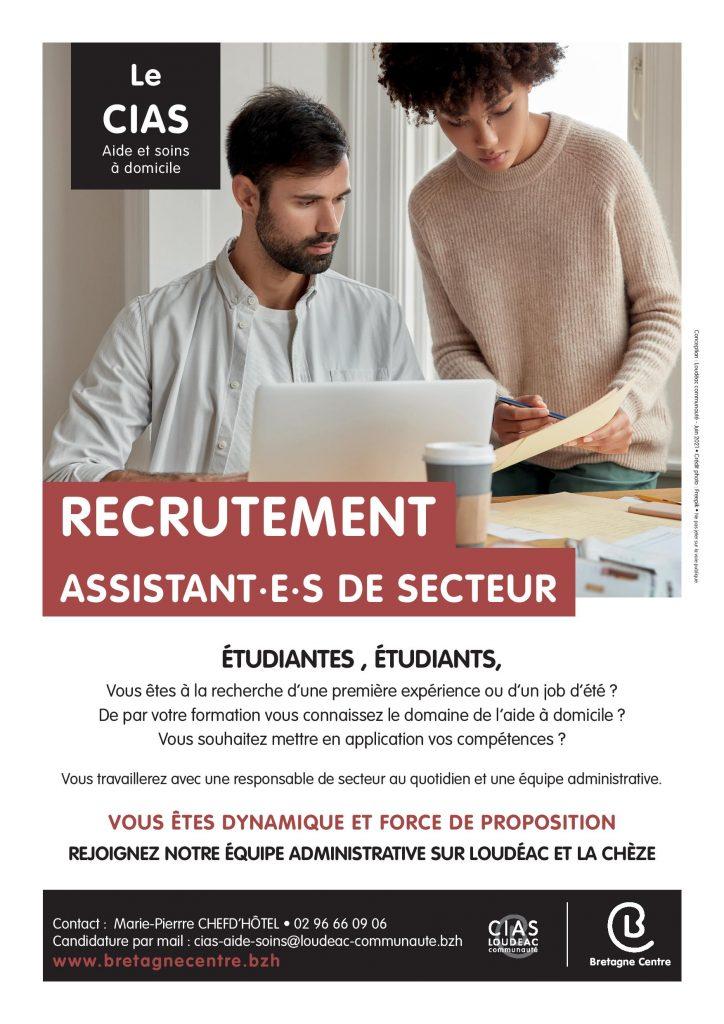 CIAS : recrutement en jobs d'été