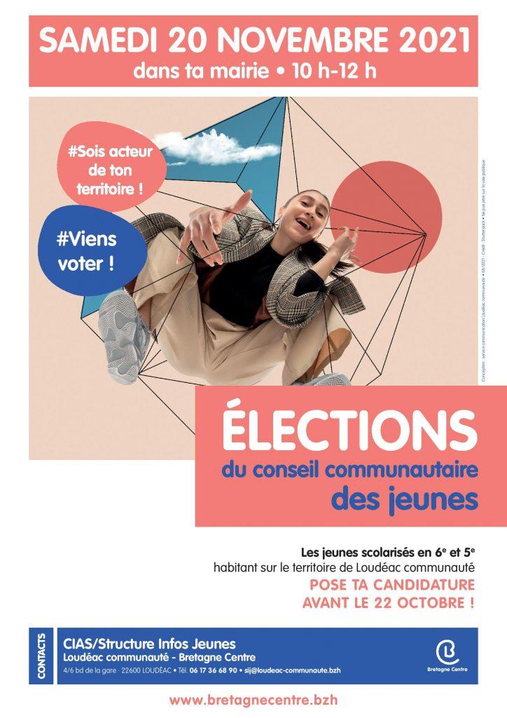 Elections au Conseil Communautaire des Jeunes : 20 novembre 2021