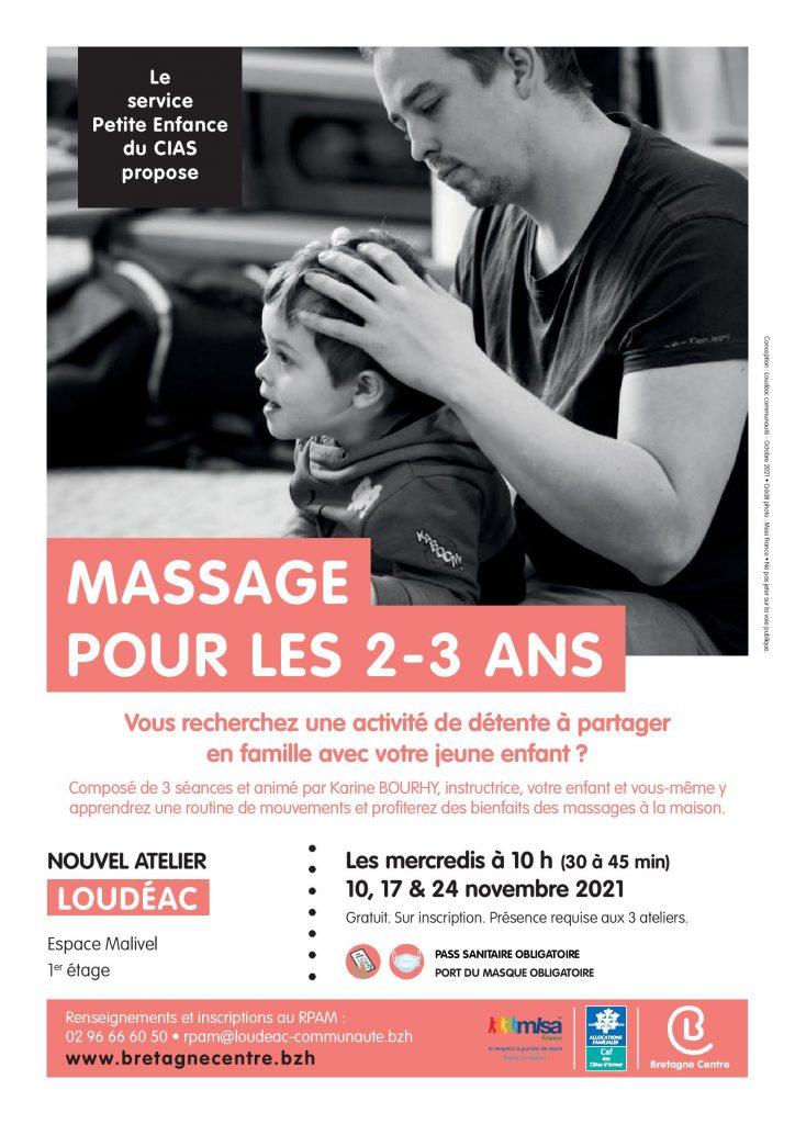Massage en famille : ateliers pour les enfants de 2 à 3 ans